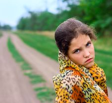 Portrait Girl On Nature Royalty Free Stock Images