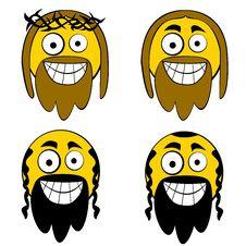 Free Jesus And Jew Cartooned Guys Stock Photo - 6246190