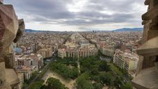 Clouds On Barcellona Stock Image