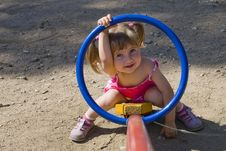 CHILD AT THE PLAYGROUND Royalty Free Stock Image