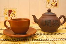 Free Teapot And Tea Cup Stock Photo - 6246730