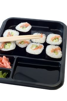 Free Rolls Of Sushi Lunch Stock Photography - 6246752