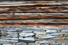Log Home Wall Royalty Free Stock Images