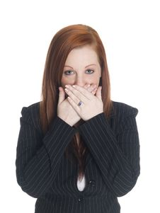 Free Businesswoman - Speak No Evil Stock Image - 6247271