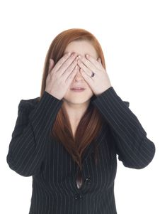 Free Businesswoman - See No Evil Royalty Free Stock Images - 6247289