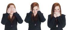 Free Businesswoman - No Evil Stock Image - 6247311
