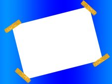 Free Blank Paper Space With Tape 2 Royalty Free Stock Photography - 6247357