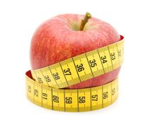 Free Red Apple In Measuring Tape Royalty Free Stock Photo - 6247505