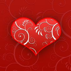 Free Heart Flower Pattern Royalty Free Stock Photos - 6248808