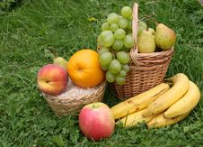 Free Fruit In A Grass Royalty Free Stock Photos - 6249478
