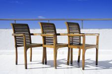 Free Three Chair On Balcony Royalty Free Stock Image - 6249736