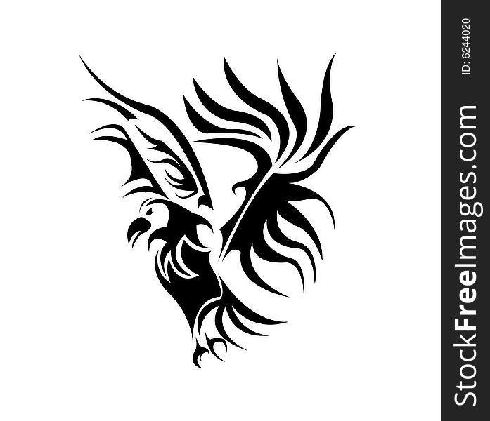 631ac9a42 A Beautiful Bird Tattoo Design Vector - Free Stock Images & Photos ...