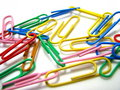 Free Colorful Paper Clips Stock Photography - 6253662