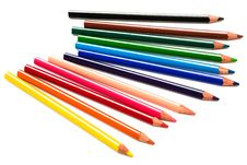 Free Beautiful Color Pencils Royalty Free Stock Image - 6250836