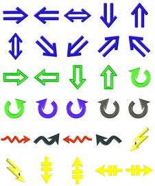 Free Arrows Set Royalty Free Stock Photo - 6250875