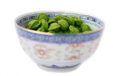 Free Bowl Of Wasabi Nuts Stock Images - 6250974