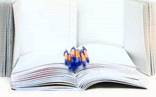 Free Pens And School Writing-books Stock Image - 6251091