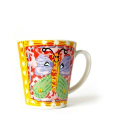 Free Cup With The Butterfly Stock Photo - 6251330