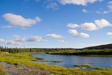 Free Landscape With River And Clouds Royalty Free Stock Images - 6251369
