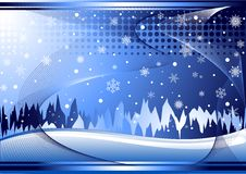 Blue Winter Background Royalty Free Stock Photos
