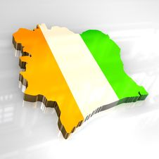 Free 3d Flag Map Of Cote D Ivoire Stock Images - 6251704