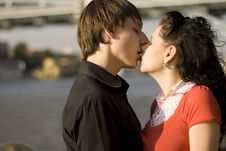 Free Loving Couple Kissing Stock Photos - 6251903