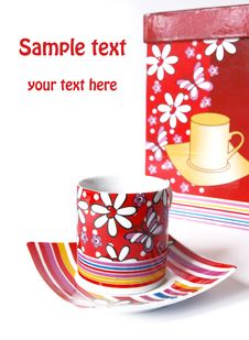 Free Tea Cups In Gift Packing Stock Photography - 6251942