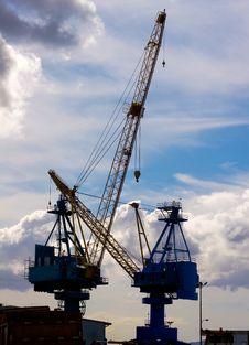 Free Industrial Cranes Stock Image - 6252321