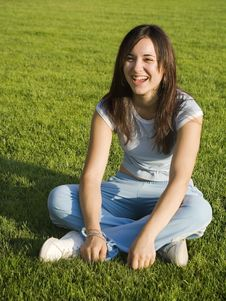 Free Girl On Grass Royalty Free Stock Photos - 6252888