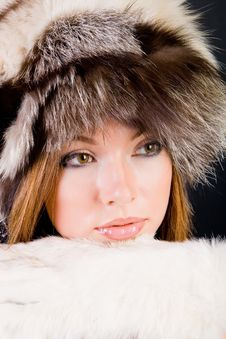 Free Girl In Fur-cap Stock Images - 6253124