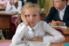 Free Missing Schoolgirl At Lesson Stock Photo - 6253360
