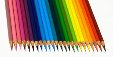Free Vibrant Colored Pencils In A Rainbow Pattern Royalty Free Stock Photos - 6253418