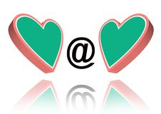 Web Hearts Royalty Free Stock Photo