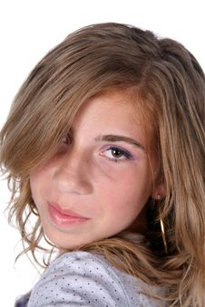 Headshot Of Cute Tween Stock Image