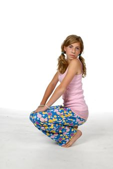Cute Girl In Pajamas Royalty Free Stock Image