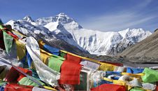 Free Sutra Streamers And Mount Qomolangma Stock Photos - 6254713