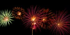 Free Wide Fireworks Royalty Free Stock Photos - 6254928