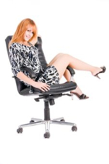 Free Girl On Armchair Royalty Free Stock Images - 6255569