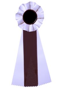 Free Brown And White Ribbon Award Or Prize Stock Image - 6255571