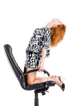 Free Girl On Armchair Stock Photos - 6255573