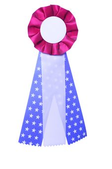 Patriotic Red, White And Blue Ribbon Award Royalty Free Stock Photos