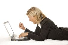Free Woman And Laptop Stock Photo - 6255660