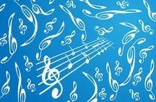 Free Treble Clefs Background Royalty Free Stock Photography - 6255697