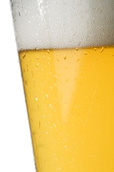 Light Beer Glass Royalty Free Stock Image