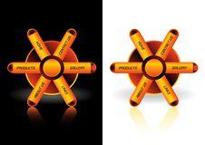 Free Web Navigator Orange Buttons Royalty Free Stock Image - 6256306