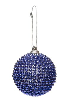 Free Isolated Blue Christmas Decoration Royalty Free Stock Image - 6256326
