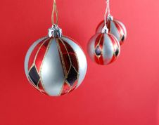 Free Christmas Baubles Stock Photography - 6256842