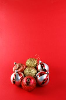 Free Christmas Baubles Royalty Free Stock Photography - 6256907