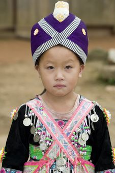 Laos Hmong Girl Royalty Free Stock Photography