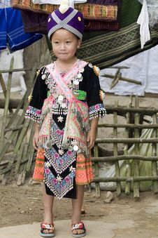 Laos Hmong Girl Stock Photos